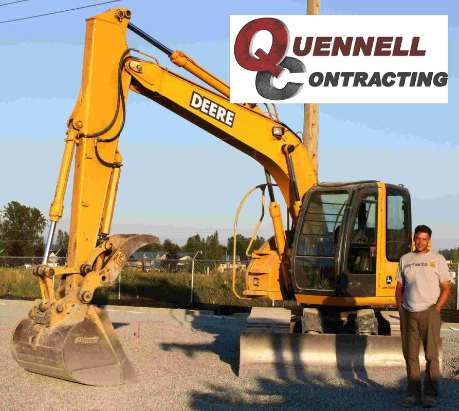 Brennon Quennell by the John Deere 135C excavator - Quennell Contracting